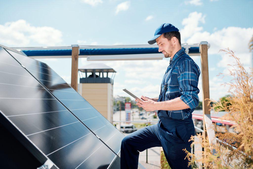 Inspectie zonnepanelen