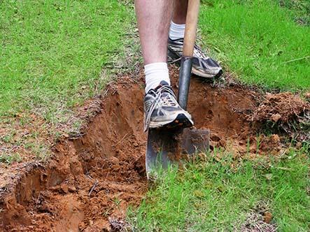 Begin met graven